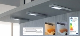 LED Rettangolo Emotion Edelstahl-Optik mit Touchdimmer